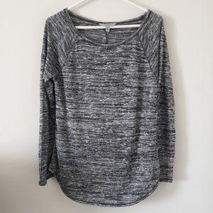 Athleta size Medium Shanti sweater metallic